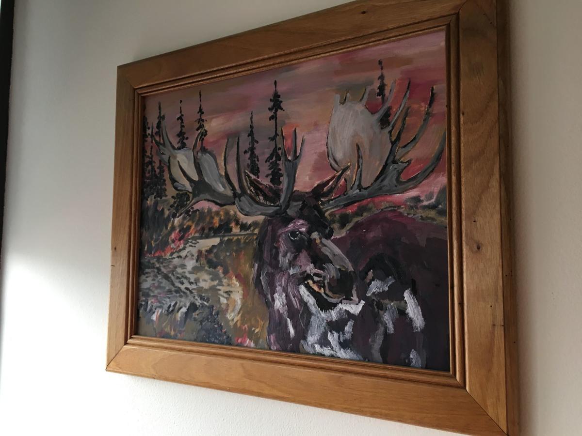 Phillip Benjamin's moose painting