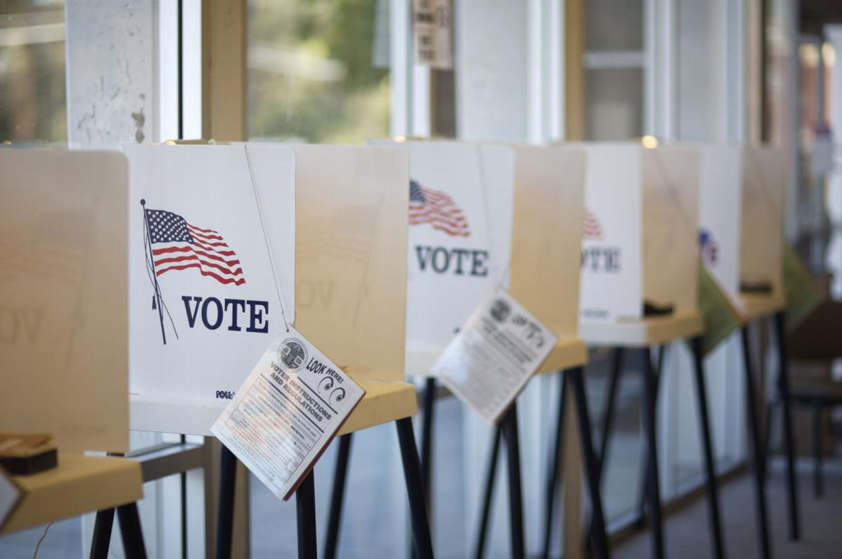 Voting booths stockimage