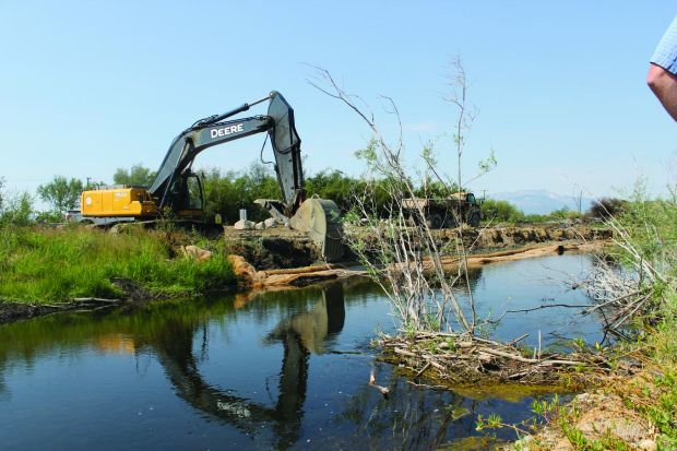 Cleanup work at a Superfund site along the upper Clark Fork River