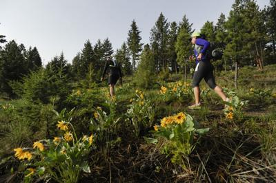 Trail runners on Helena's South Hills trail system.