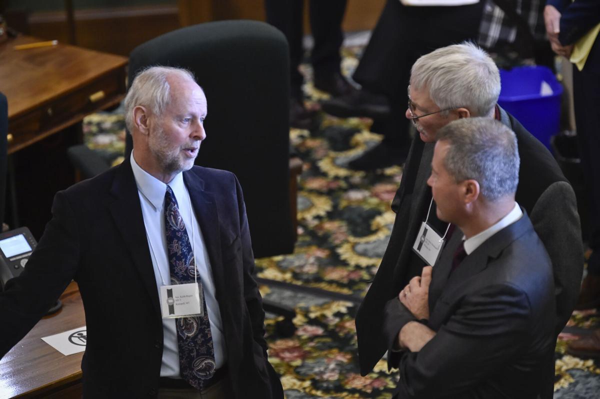 From left Sen. Keith Regier, R-Kalispell, Sen Steve Heinbach, R-Wibaux, and Sen. Al Olszewski, R-Kalispell,