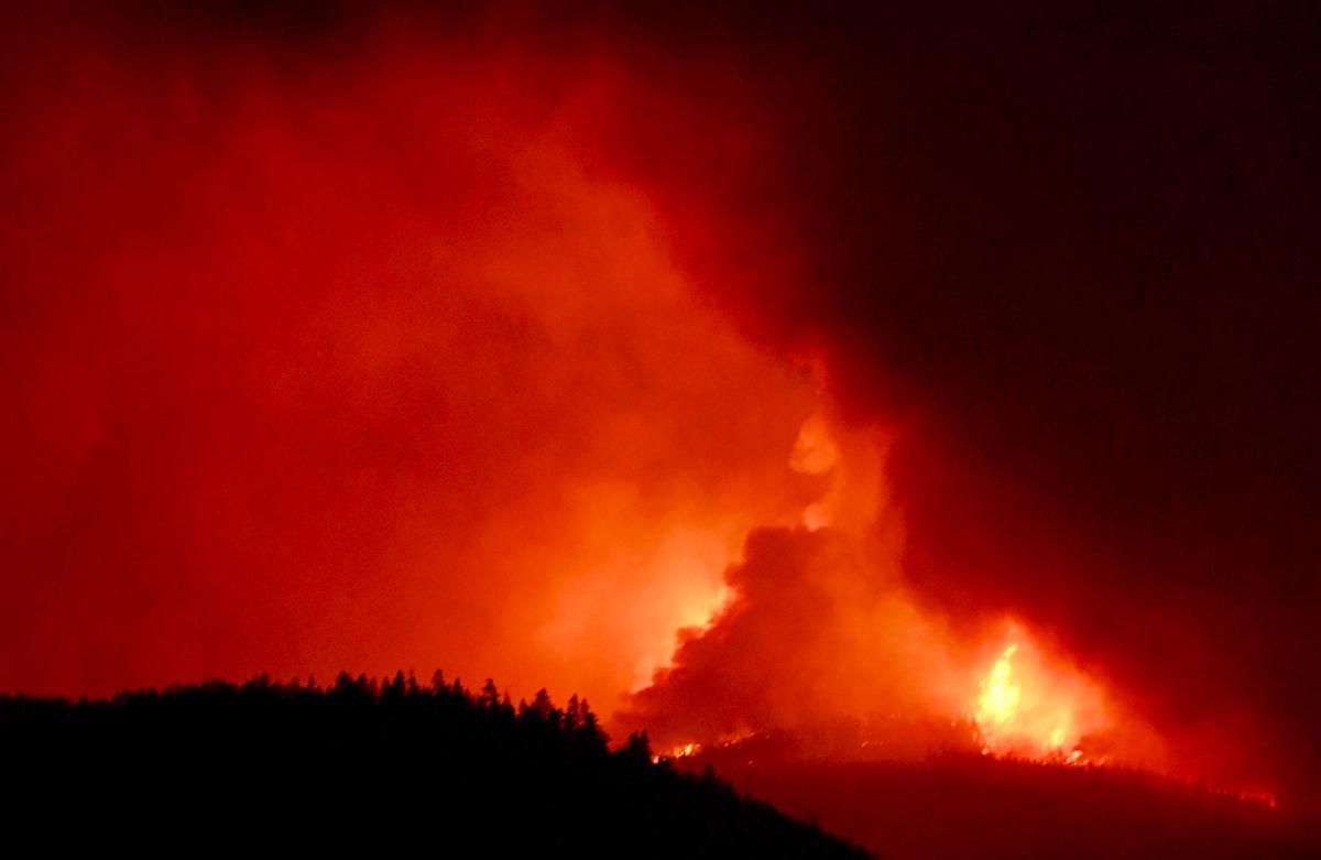 Lolo Peak fire