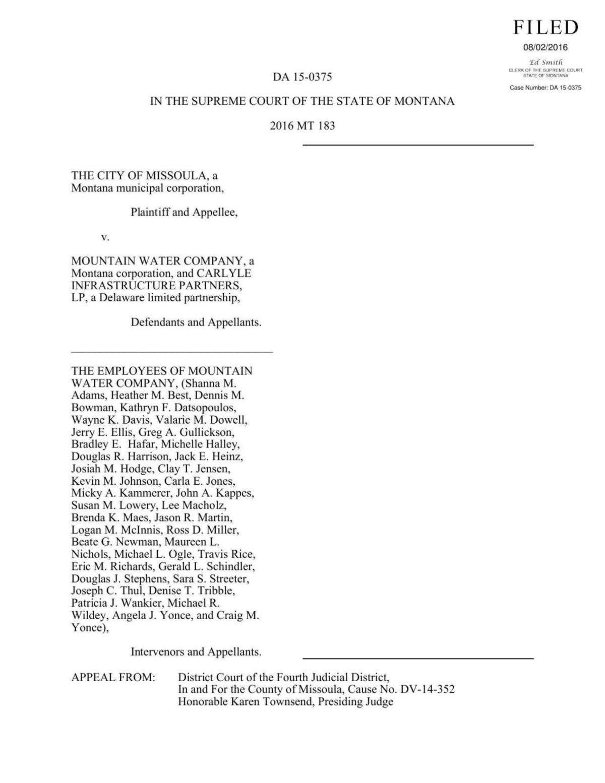 Montana Supreme Court opinion