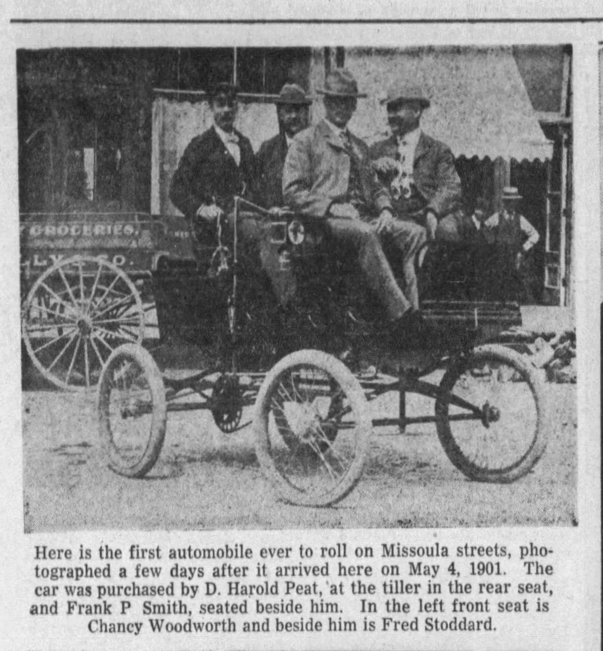 Missoula's first automobile