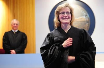 Beth Baker sworn in
