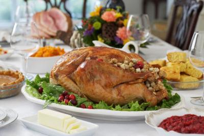thanksgiving dinner stockimage