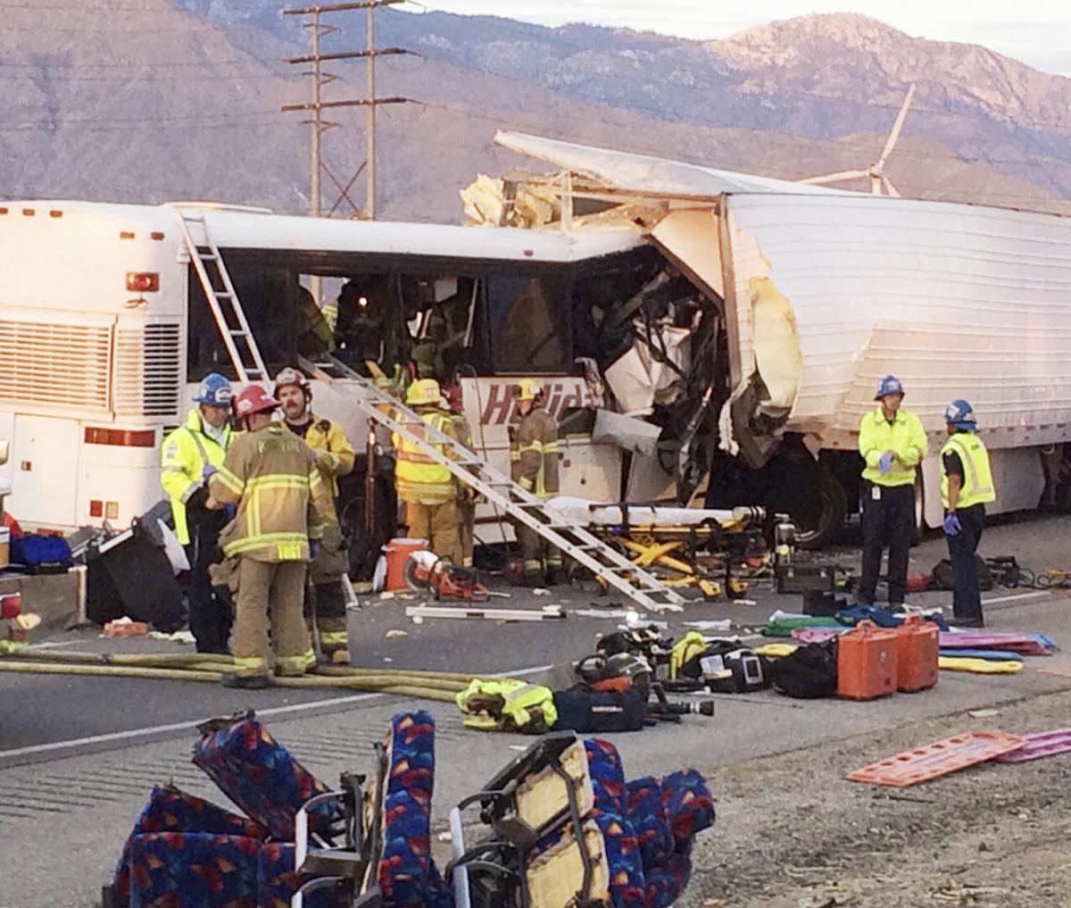 Photos: 13 Dead, 31 Injured In California Bus Crash