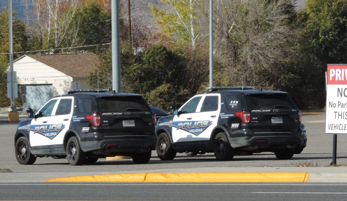 Helena Police Department vehicles