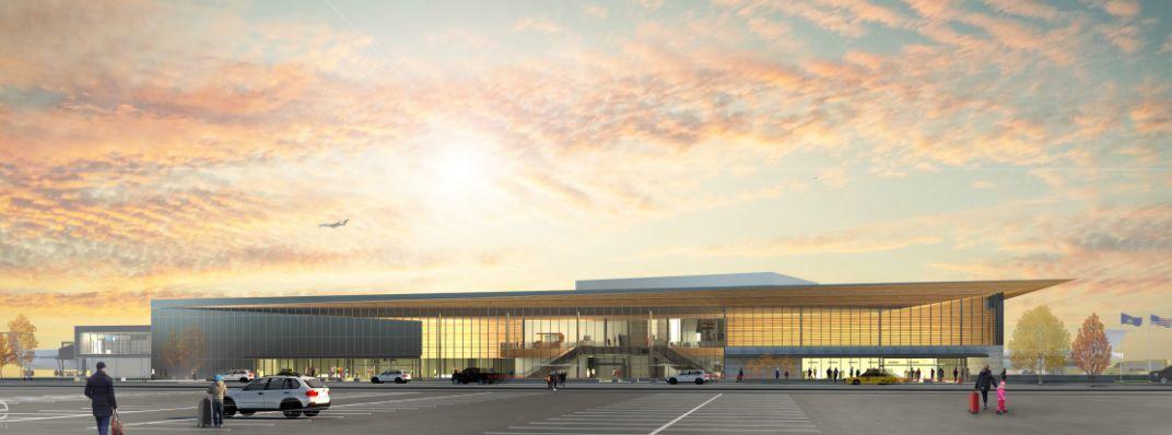 Exterior Missoula airport passenger terminal