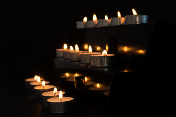 candles church stockimage