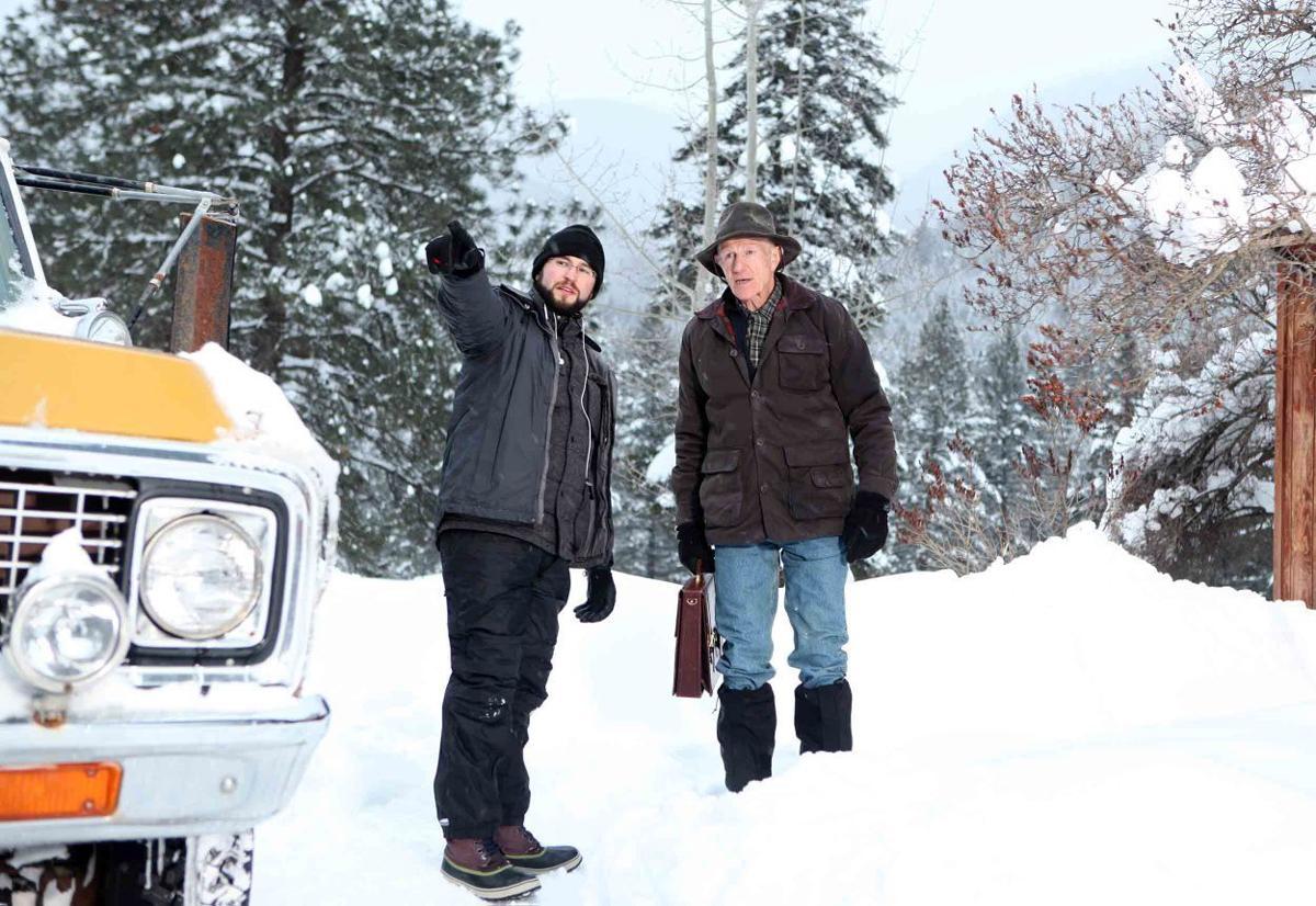 On set of 'Winter Light'