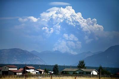 Thompson fire, Glacier Park