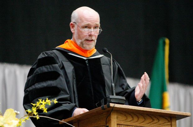 Greg Gianforte speaks at the Rocky Mountain College commencement