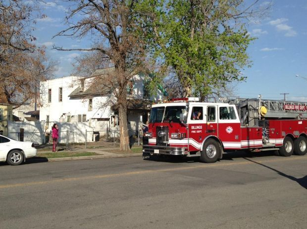 Emergency crews respond to a house fire