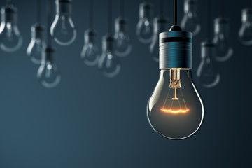 Energy electricity light bulb