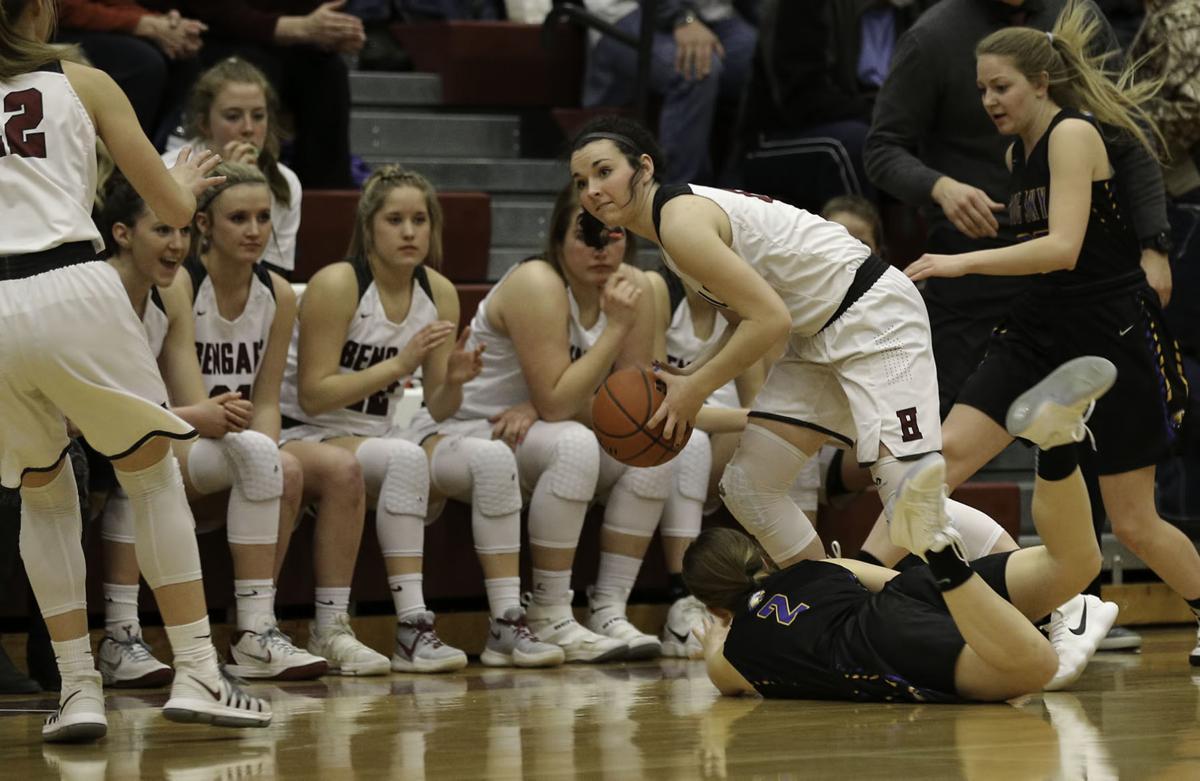 girls basketball; HHS vs Big Sky