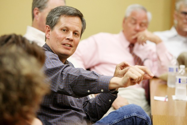 U.S. Rep. Steve Daines, R-Mont., leads a discussion