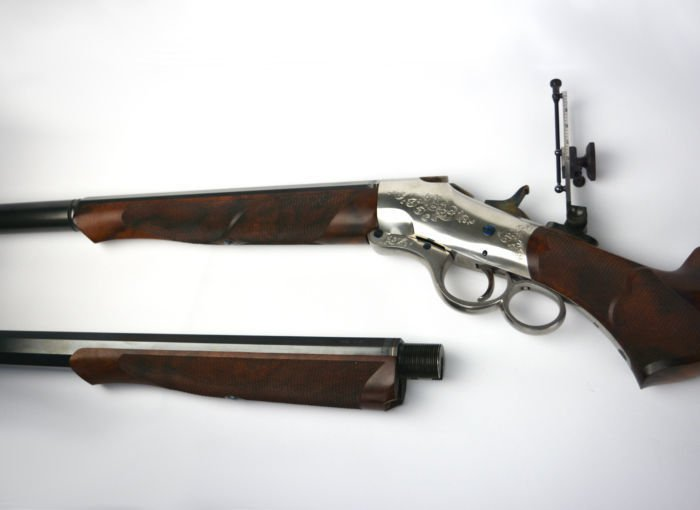 Shown is a custom take down style rifle built by McLaughlin