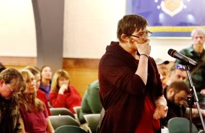 Students speak out during forum discussion on the proposed cuts  to Tech's programs and faculty