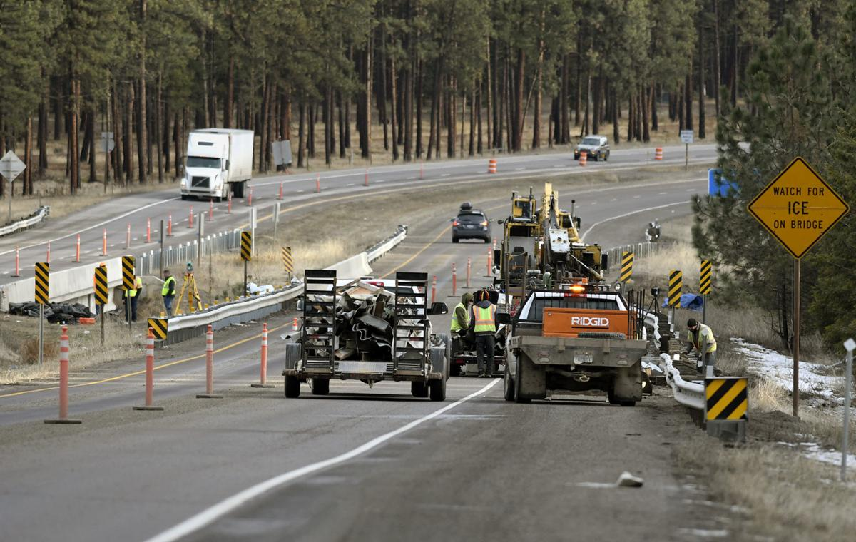 Coroner IDs victims of traffic pileup on I-90 in western Montana