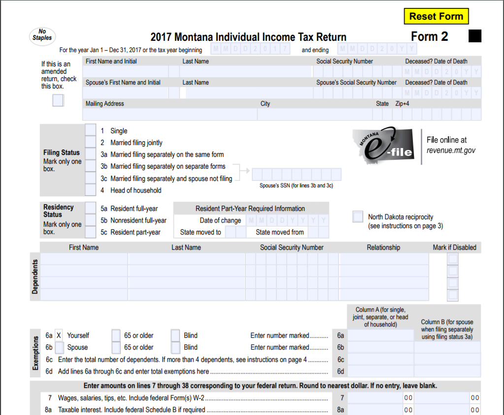 Tax form file