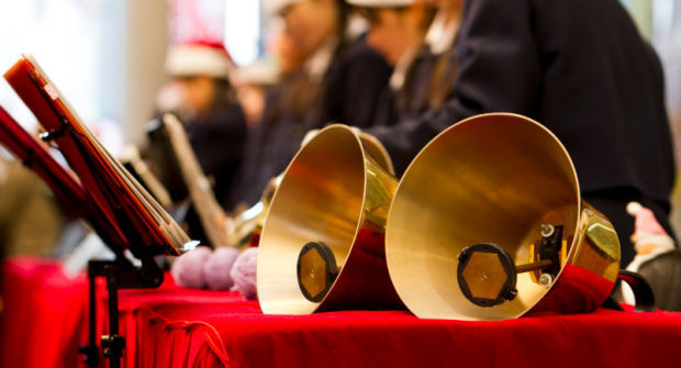 handbell choir stockimage