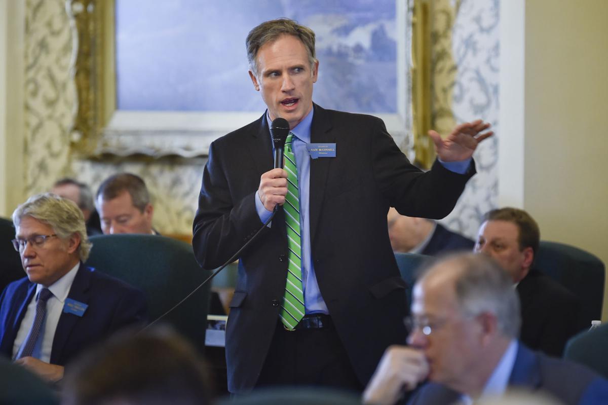 Sen. Nate McConnell, D-Missoula, speaks in opposition of House Bill 532