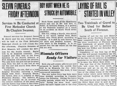 Slevin funerals 1928