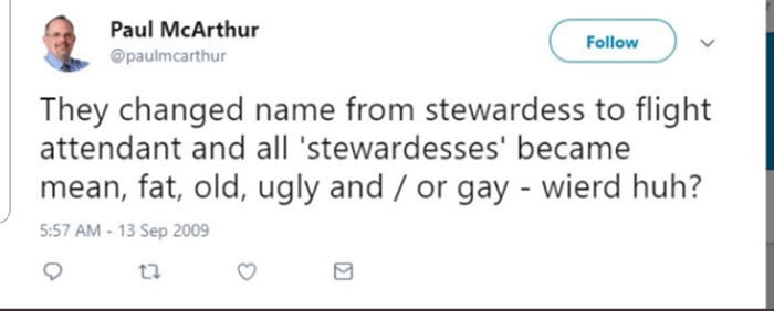 Paul McArthur Tweet