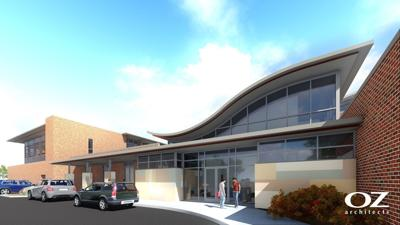 Rendering of new addition to the Phyllis J. Washington College of Education and Human Sciences