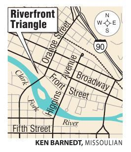 Riverfront Triangle location