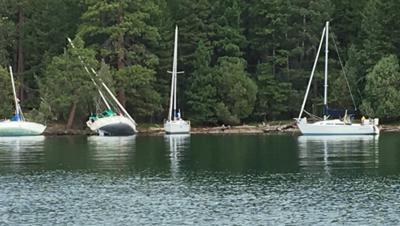 Sailboats on Bull Island