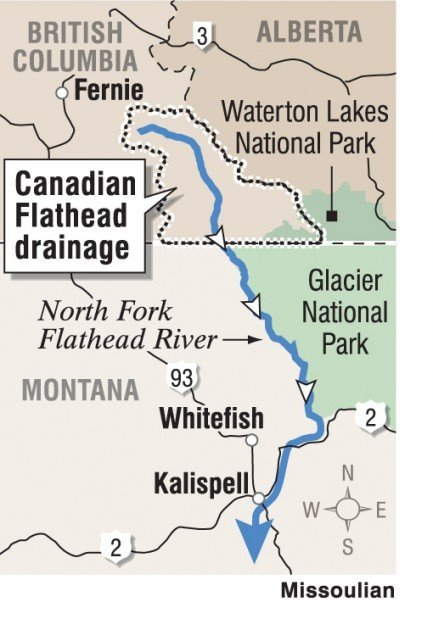 Canadian Flathead map