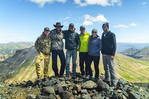 Billings pastor, camera crew, wranglers climb to summit for sermon
