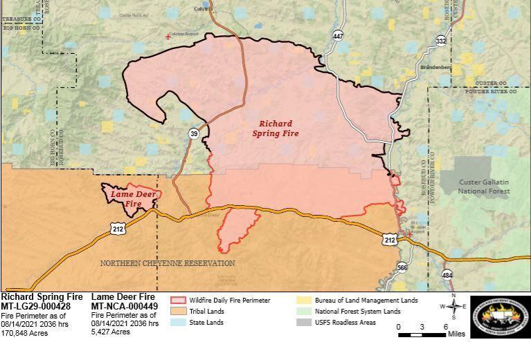 Richard Spring fire Sunday map