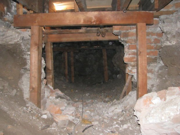 Missoula Mercantile crawl space