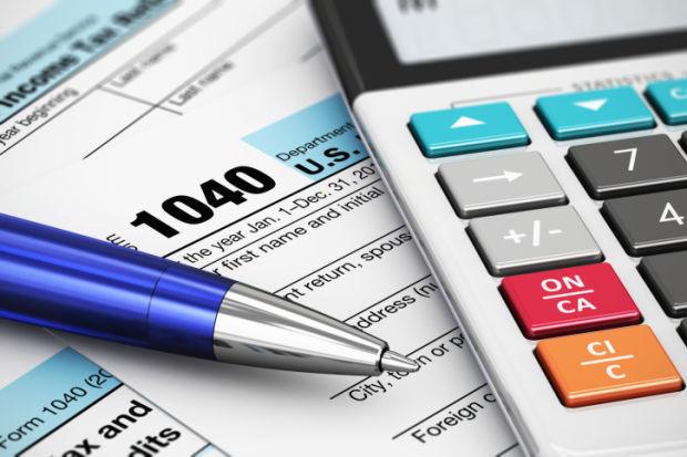 US Tax Form 1040 taxes stockimage