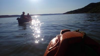 Paddling into the upstream end of Fort Peck Lake. Montana has some of the strongest stream access laws in the country.