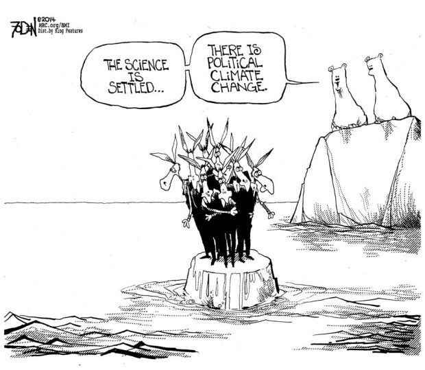 Political climate change is settled science