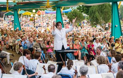 Missoula Symphony Orchestra Caras Park concert