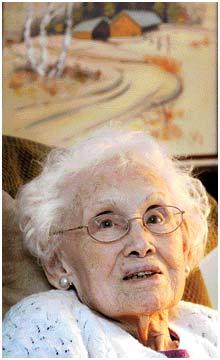 Ruth Haugen's secret for reaching 100? - Just live