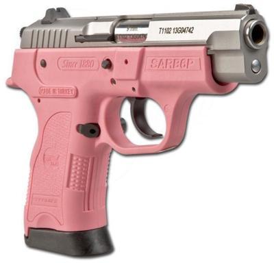 pink gun handgun 9 mm pistol firearm