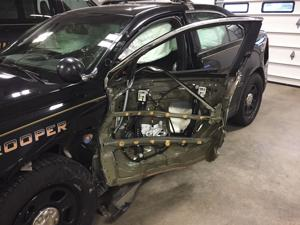 'Slow down': MHP urges caution after five patrol cars were hit in one month