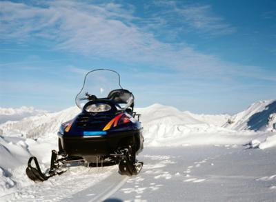 snowmobile stockimage