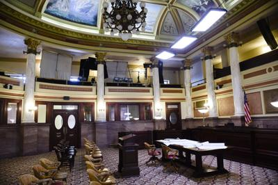 The Old Supreme Court Chamber of the State Capitol Montana