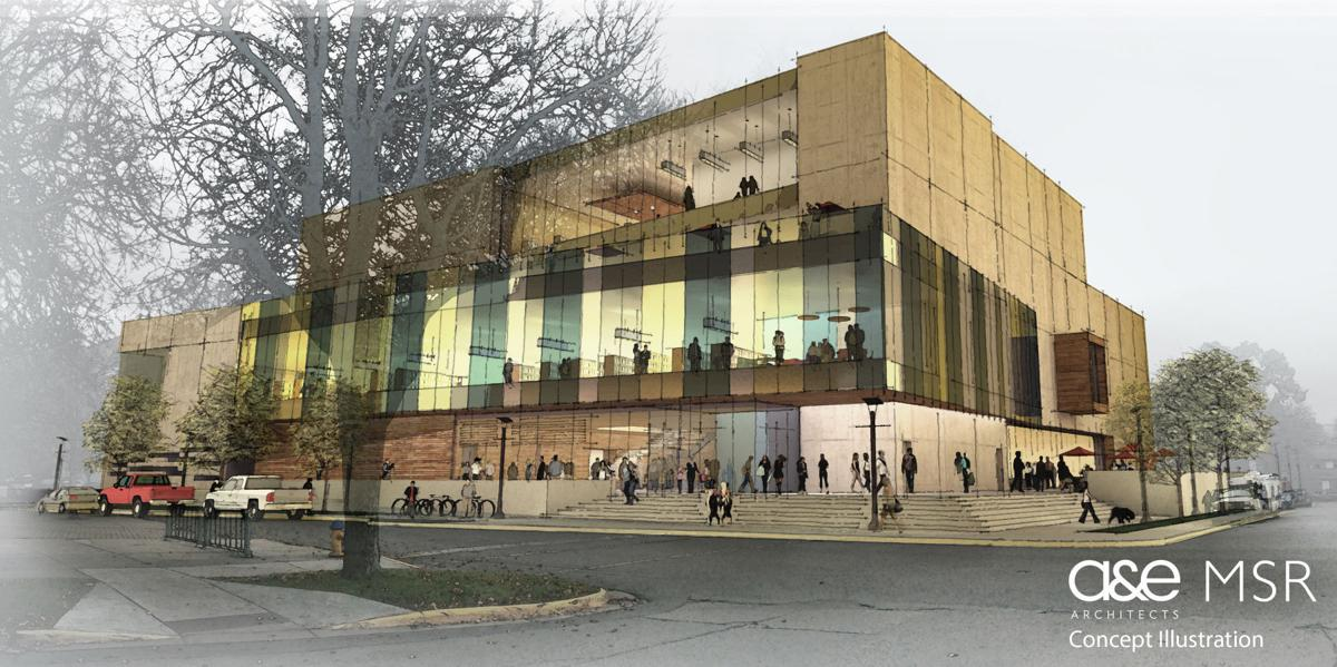 Conceptual design of new library