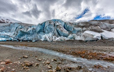 Receding glacier climate change global warming