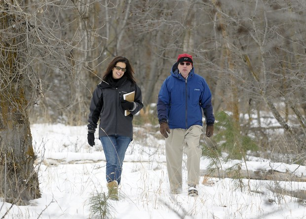 Karen Sippy and Bert Lindler, members of the Grant Creek Trail Association