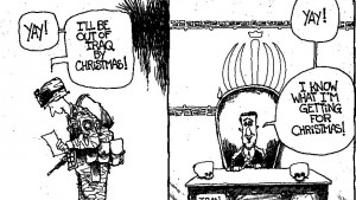 CARTOON: Troop withdrawal from Iraq a Christmas gift for