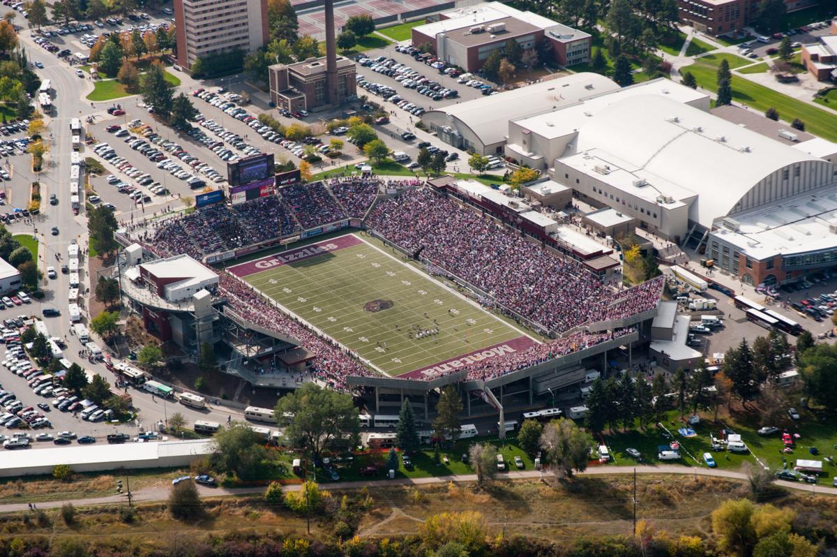 Aerial of stadium